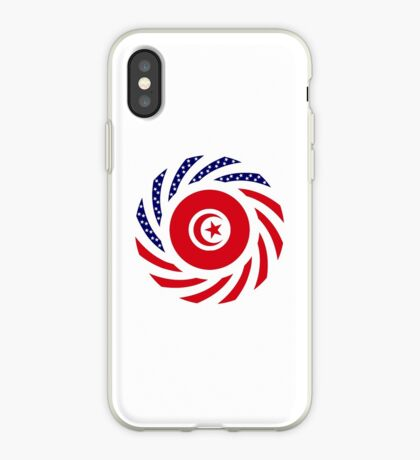 Tunisian American Multinational Patriot Flag Series iPhone Case