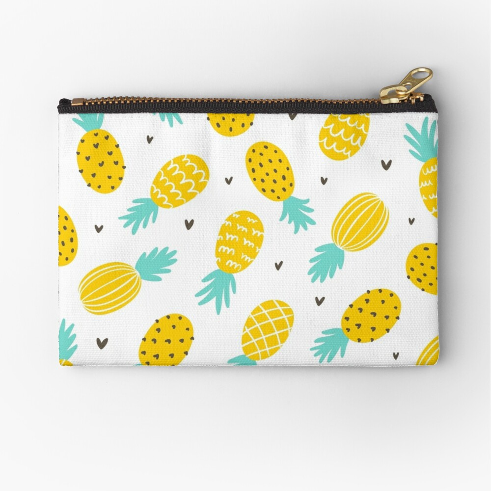 Pineapple and hearts Zipper Pouch
