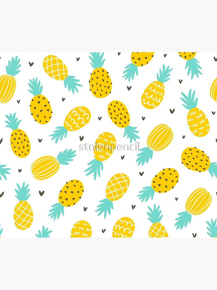 Pineapple and hearts by stolenpencil