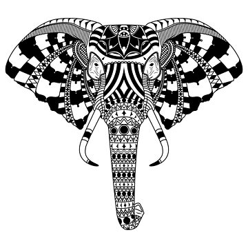 Elephant - Black by Kapperz