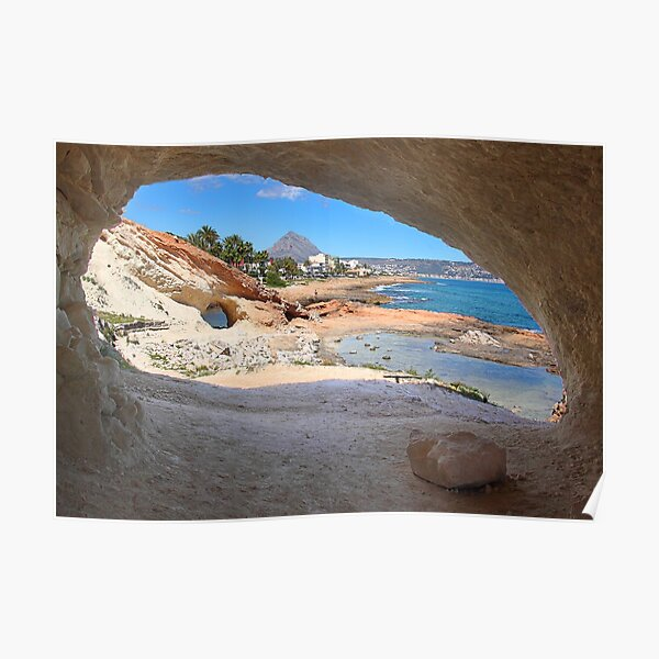 The coastal path Javea Spain Poster