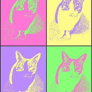 Neon Kitty by webbiededge