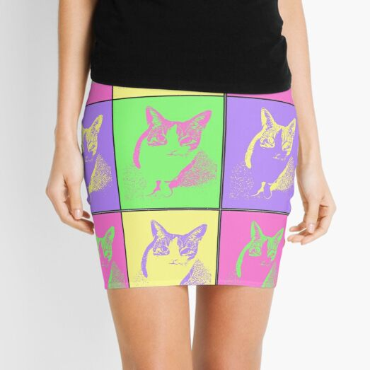 Neon Kitty Mini Skirt
