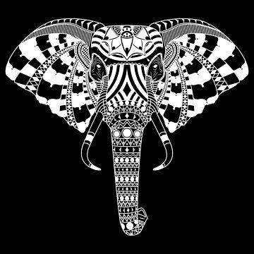 Elephant - White by Kapperz