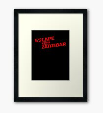 MGS - Escape From Zanzibar Framed Print