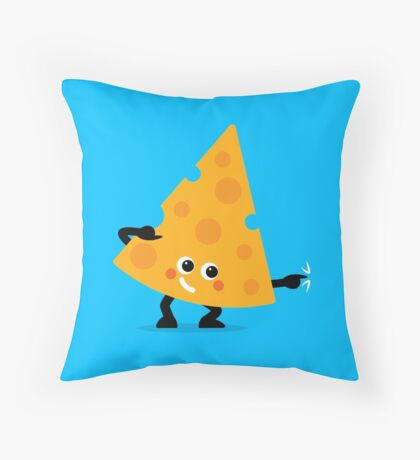 Character Fusion - Just Cheese Throw Pillow