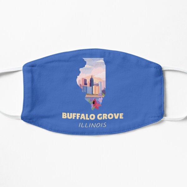 Buffalo Grove Illinois Map Flat Mask