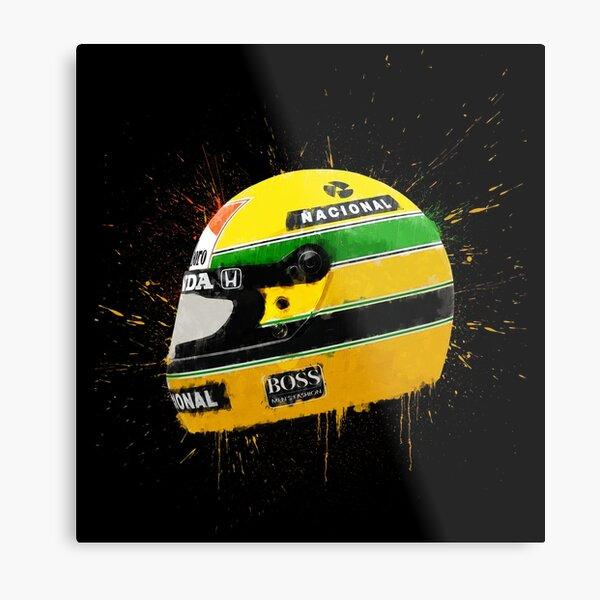 Casque Ayrton Senna F1 Impression métallique