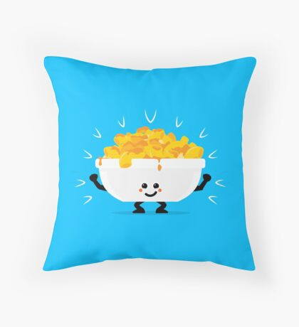 Character Fusion - Just Mac&Cheese Throw Pillow