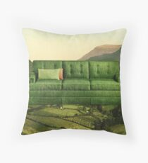 Green Couch Throw Pillow
