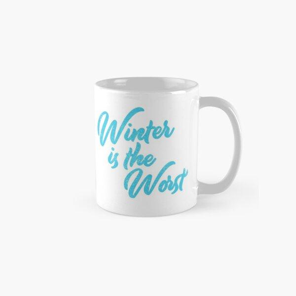 Winter Sucks Funny Cute Brush Lettering Classic Mug