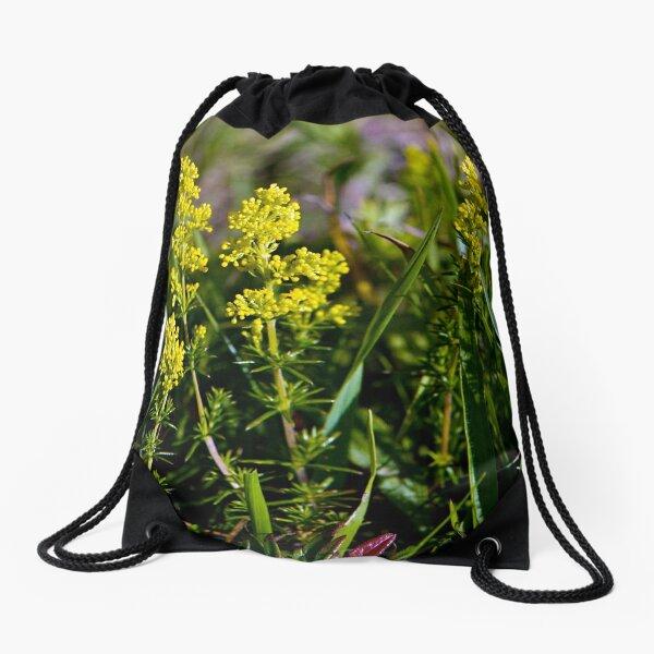 Galium Verum (Lady's Bedstraw), Inishmore, Aran Islands Drawstring Bag