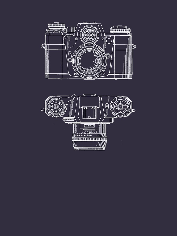 Vintage Photography - Contarex Blueprint by brainsontoast