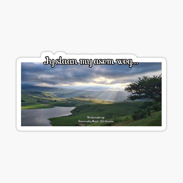 Afrikaans - Jy slaan my asem weg...  Sticker