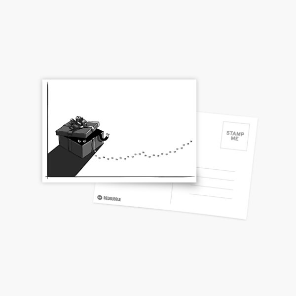 Chat caché Carte postale