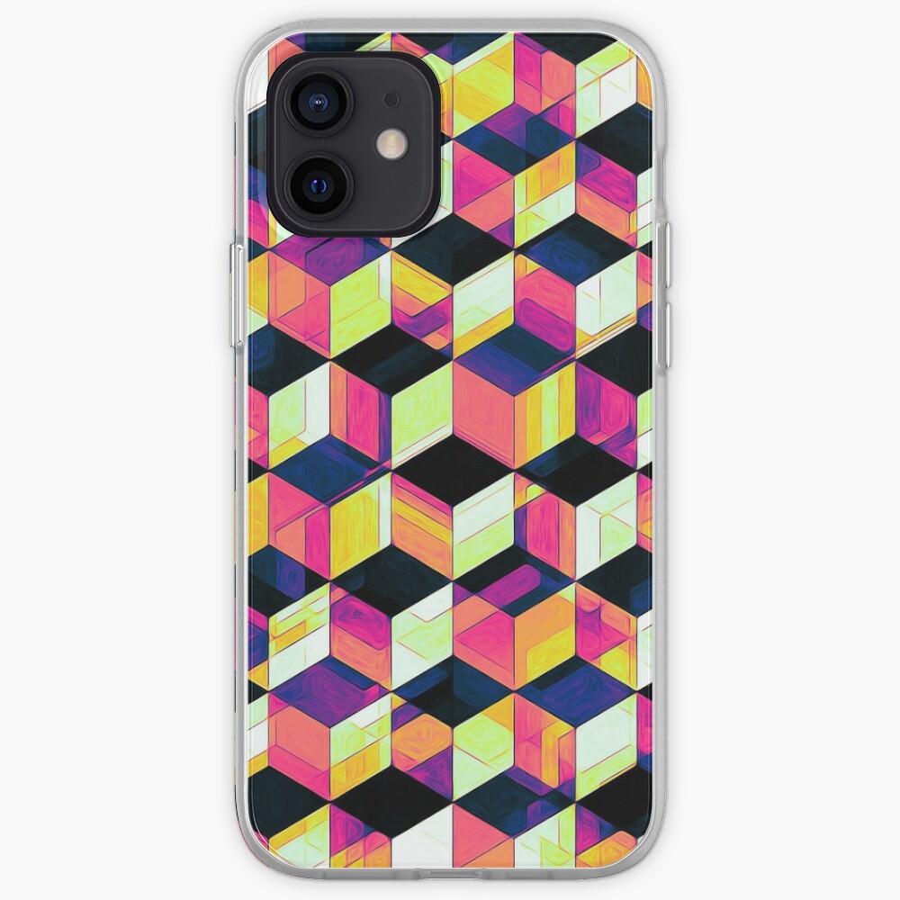 Geometric Cubes Pop Art iPhone Case & Cover