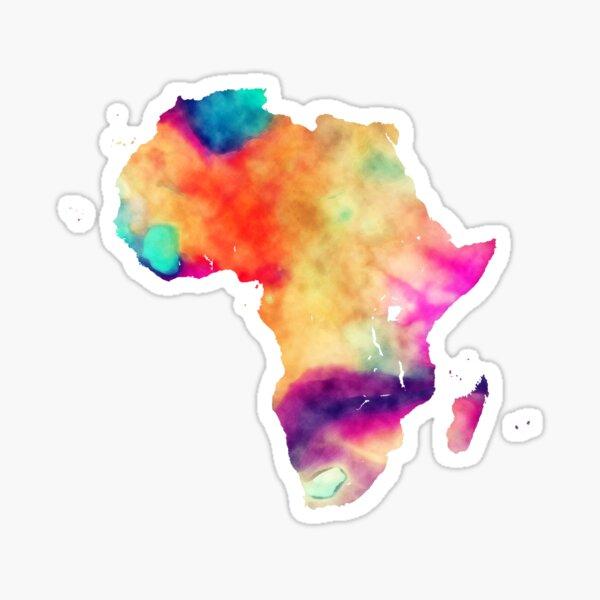 Carte de l'Afrique #africa Sticker