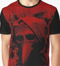 The Plague Doctor in Black Graphic T-Shirt