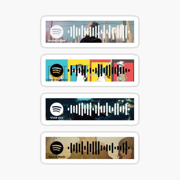 Código de Spotify Jujutsu Kaisen, paquete de pegatinas Pegatina