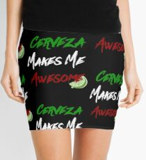 cerveza makes me awesome Mini Skirt