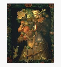 Vintage famous art - Giuseppe Arcimboldi - Autumn, From A Series Depicting The Four Seasons  Photographic Print