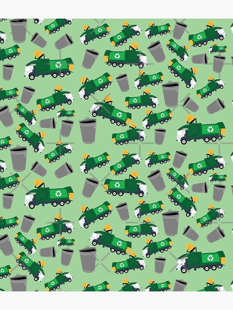 Recycling Garbage Truck Pattern by idovedesign