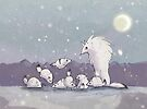 Tundra Wolves by spiffy-keen