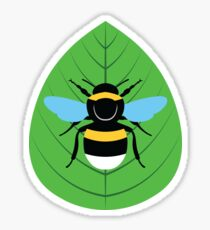 Bombus Terrestris on Leaf Sticker