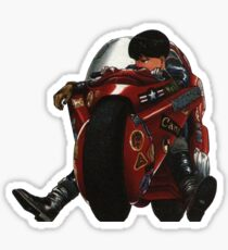Kaneda on his bike Sticker