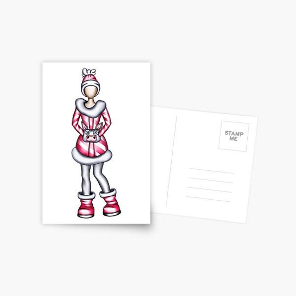 NewYear's Girl#2 Postcard