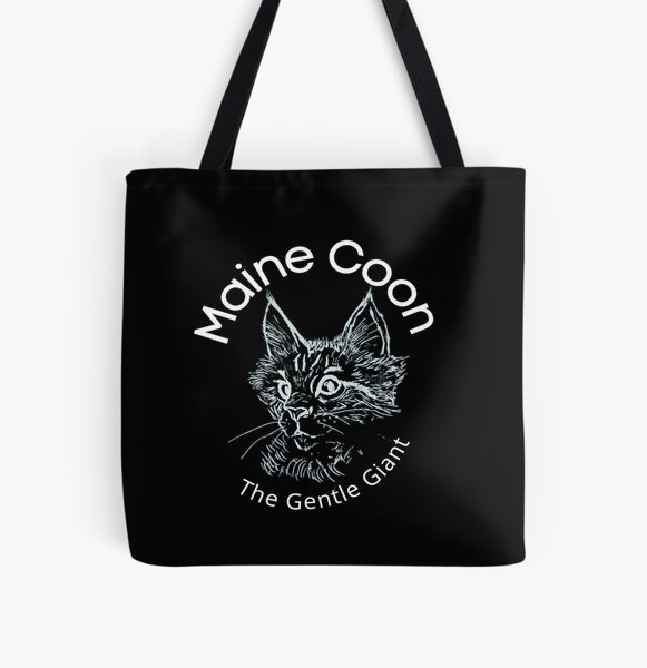 Maine Coon the gentle giant  All Over Print Tote Bag