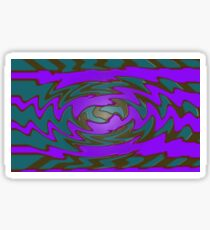 Groovy Purple Teal Abstract Sticker