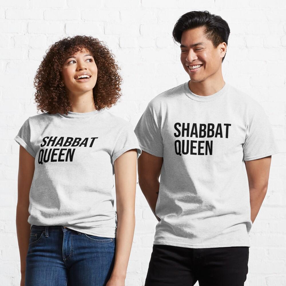 Shabbat Queen [black capitals] Classic T-Shirt