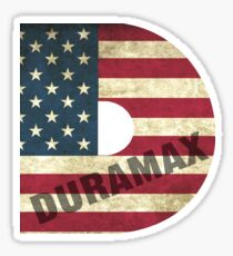 Duramax American Flag Sticker