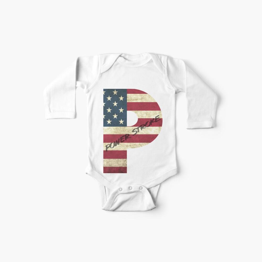 Bandera estadounidense de Powerstroke Body para bebé