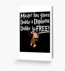Dobby Graduate- No year Greeting Card