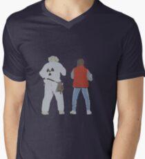 Back (s) to the Future  Men's V-Neck T-Shirt