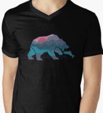 Camiseta para hombre de cuello en v Bear Country