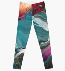 Walking Lightly - Modern Abstract Painting Leggings