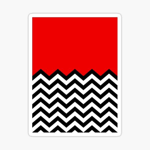 Twin Peaks - Black Lodge Pattern Sticker