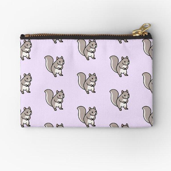 Grey Squirrel Zipper Pouch