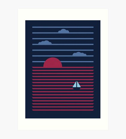 Plain Sailing Art Print