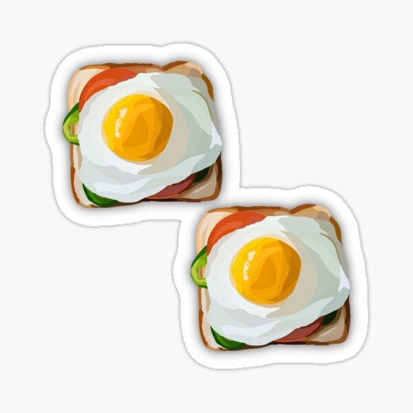 Egg and Toast Sticker Sticker