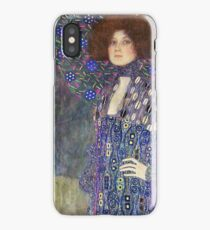 Gustav Klimt - Emilie Floege - Klimt -Woman Portrait iPhone Case/Skin