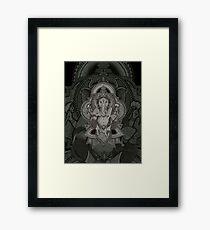 Ganesha2 - black Framed Print