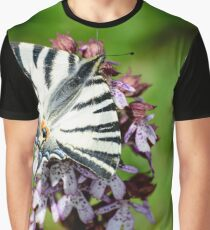 Swallowtail butterfly on an orchid, Paciano, Umbria, Italy Graphic T-Shirt