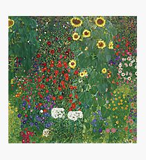 Gustav Klimt - Farm Garden With Flowers - Klimt- Landscape- Garden With Flowers Photographic Print
