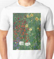 Gustav Klimt - Farm Garden With Flowers - Klimt- Landscape- Garden With Flowers Unisex T-Shirt