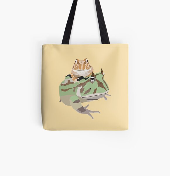 Pacman frogs All Over Print Tote Bag