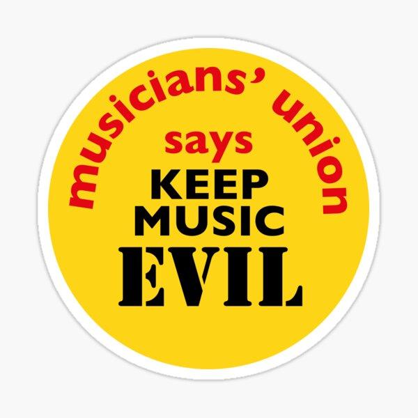 NDVH Keep Music Evil Sticker